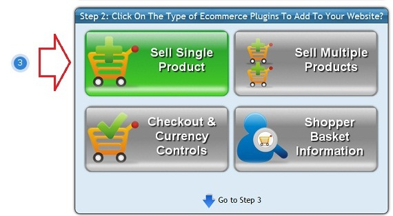 Select the ShopIntegrator ecommerce button to insert into your SiteJam online store