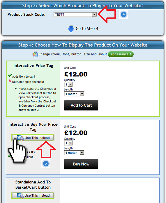 Select the ShopIntegrator ecommerce button to add into your Vistaprint online store
