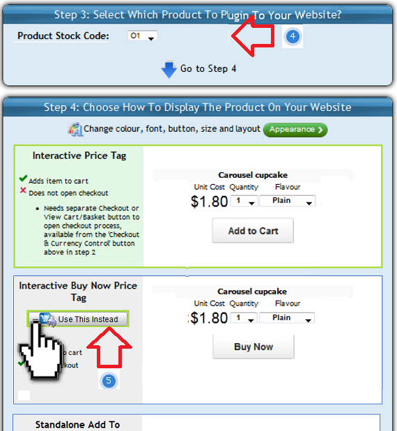 Select the ShopIntegrator ecommerce plug-in to insert into your Webnode online store