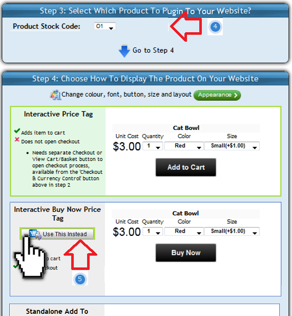 Select the ShopIntegrator ecommerce plug-in to insert into your Webs online store