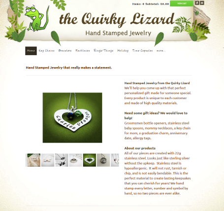 Shopping cart to sell jewelry products online