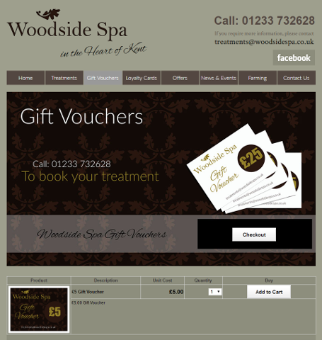 Shopping cart sell downloadable pdf gift vouchers