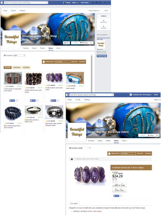 how to build an online store on facebook