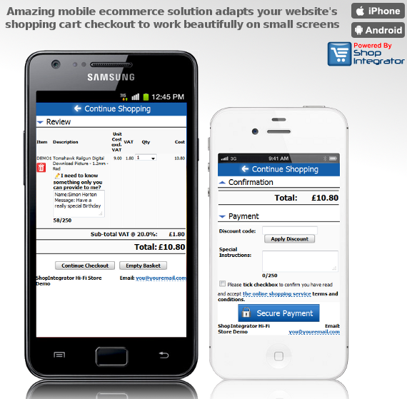 Mobile Ecommerce Store Mobile Ecommerce Checkout