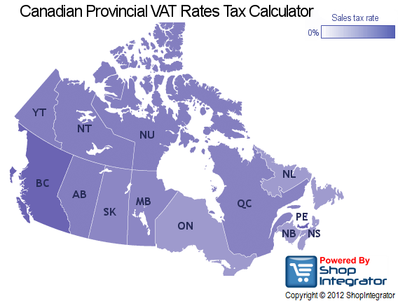 Sales Tax in Canada - Canadian GST, PST & HST Rates ...